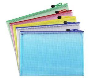 A3 / A4 / A5 / A6 / B4 / B5 / B6 Сетка Прозрачная сумка документа ПВХ Zipper Канцелярские мешок Подачи продукты сумка