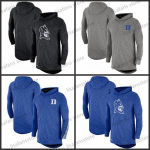 Duke Blue Devils Heather Gray Royal 2019 Sideline с длинным рукавом с капюшоном Performance Top Tee Printed команды Цвет колледжа футболки размер S-4XL