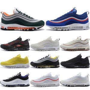 97 Scarpe da uomo Scarpe da corsa da donna Cushion OG Triple White Nero Pull Tab Sneakers Athletic Cushion Sports Trainers 36-45