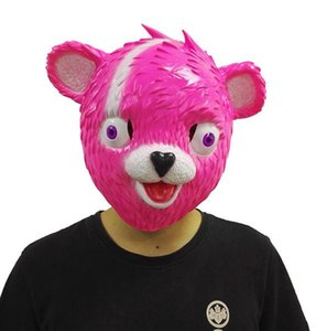 Sıcak Satış Çocuk Maskesi Sarılın Takım Lideri Pembe Teddy Bear Bulanık Panda Ayı Cosplay Çocuklar Çocuklar Için Gerçekçi Lateks Maske Yetişkin Cadılar Bayramı Partisi Oyuncaklar