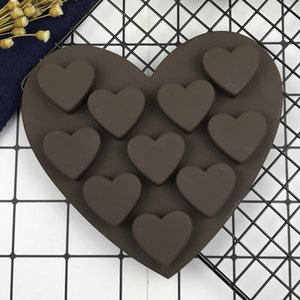 Baking mold 10 even love silicone cake chocolate handmade soap mold Baking DIY mold cake mold64
