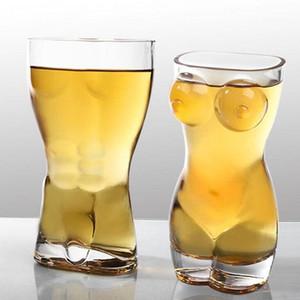 Yaratıcı Şarap Gözlükler Partisi Kulübü Erkek Kadın Stil Fabrika Toptan İçin Şeffaf İnsan Kupası bira bardağı