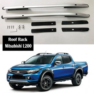 Aluminum Alloy Roof Rack For Mitsubishi L200 2007-2019 Rails Bar Lage Carrier Bars top Cross bar Rack Rail Boxes
