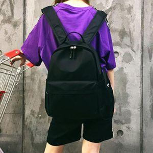 Korean Canvas Backpack Women Large Capacity Schoolbag For Girl Solid Black White Backpacks Red Travel Casual School Bag