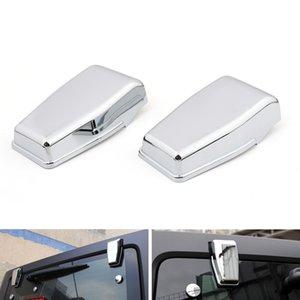 Areyourshop ventana de la puerta del cromo del coche superior trasera Cubierta de la bisagra recorta en forma para el Wrangler JK 2007-2017 Car Auto Parts Accessories