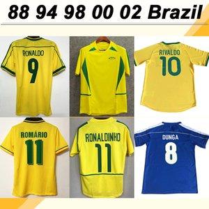 1998 # 9 RONALDO Dunga Retro Casa Fora Mens Futebol 1994 # 11 ROMARIO camisas do futebol 2000, o Brasil da selecção nacional # Fardas 10 Rivaldo