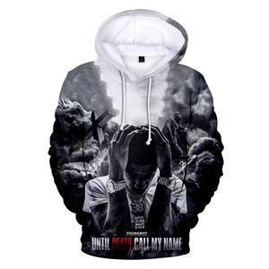 Yeni 2020 Rapçi Youngboy daha asla Yeni 3D Kapşonlu Sweatshirt Erkek / Bayan Günlük Hip Hop Kapüşonlular XXS-4XL Broke