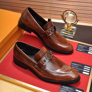 Hot Sale-Designer Dress scarpe di cuoio Des Chaussures pour hommes marca degli uomini Ufficio cerimonia nuziale convenzionale del partito di sera Mocassini Dressing