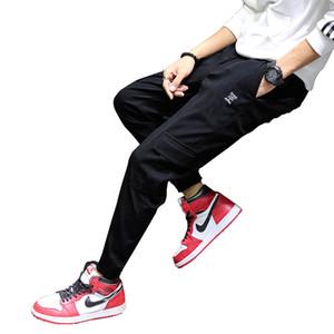 Bahar ve Yaz Yeni tulumları Erkek Gençlik Moda Casual Pantolon Yakışıklı Kore Küçük Ayaklar Gevşek Spor Pantolon