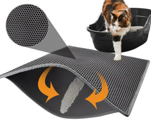 Large Cat Litter Trapper Mat Exclusive Urine Waterproof Layer. Larger Holes Urine Puppy Pad Option Messy Cats. Soft on Paws