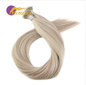 Straight Micro Nano Ring 100% Remy Human Pre-bonded Hair Extensions 0.8g / Strand 50Pieces 40g / pack