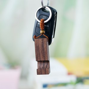 Wood Keychain Phone Holder Rectangle Wooden Key Ring Cell Phone Stand Base Best Gift Key Chain Party Favor 2 styles HH9-2651