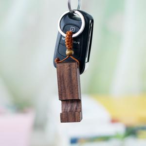 나무 키 체인 전화 홀더 사각형 나무 열쇠 고리 휴대 전화 스탠드 자료 최고의 선물 키 체인 파티 호의 2 개 스타일을 HH9-2651
