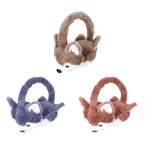 Kawaii nette Tierpelz Earmuffs 2020 Neue Ohr-Wärmer Dog Ear Muffs Winter Accessoires für Frauen plushed Cartoon Husky