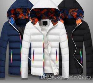 Schlanke Bomber Jacket Men Herbst verdicken Herren Mantel Warm Outwear Winddicht mit Kapuze Overcoat Zipper Parkas Jacken Mann Hoody Männlich
