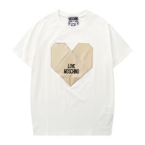 NOVO MO NEW Mens Mulheres Brandt-shirt Designershirts Luxo shirts Rua Hiphop camisetas Verão camisetas mangas curtas com capuz B20022004T