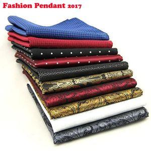 Neue Designer Einstecktuch Mode Handkerchief Dot Paisley Blumen Plaid Art Hanky Herren Anzugtasche Zubehör DHL-Versand