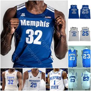 Personnalisé Tigres de basket-ball NCAA Jersey Rose Martin Barton Evans Hardaway Wiseman Ellis Achiuwa D.J. Jeffries Lomax Harris Quinones