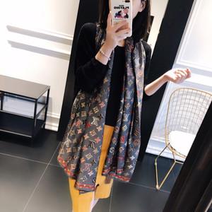 Марка шелковый шарф пашмины Новый Классический дизайн женщины мягкие шали шарфы моды длинные пашмины шарфы Рождественский подарок A169
