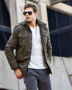 Coat Büyük Beden Gevşek Pamuk Dış Giyim Erkek Yeni Moda Ceket Erkek Tasarımcı Ceketler Uzun Artı Kadife Sıcak Erkek Casual