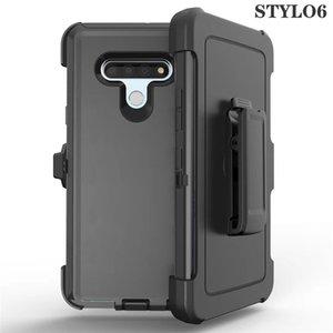 Para Samsung A11 A10E K51 Stylo 6 5 Aristo5 E 2020 3 en 1 Choque híbrido resistente absorción de cinturón protector clip de tapa de la caja