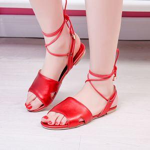 SAGACE Women flat ankle strap sandals summer open toe roman beach Shoes large size sandalias gladiator casual ladies shoes