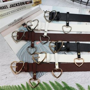 INS Fashion Love Heart Buckle Belts Classic Leather Girls Cute Style Belt Party Gifts Personalidad Marca Señora Pantalones Accesorios