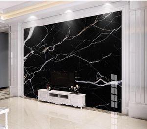 современные обои для гостиной Современный минималистский черный абстрактный пейзаж камень мраморный ТВ фоне стены