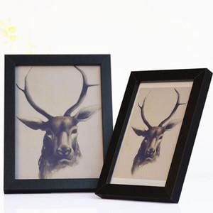 Resim Çerçevesi Masa üstü Ekran odunları Pleksiglas yapılmış ve Wall Fotoğraf Çerçevesi Siyah Montaj