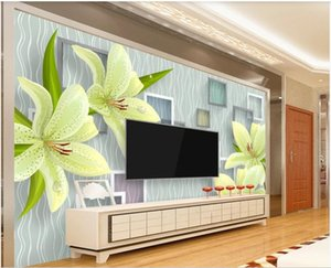 WDBH 3d wallpaper custom photo Romantic fresh and stylish 3D stereo TV background wall painting wallpaper wallpaper for walls 3 d