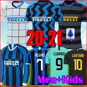 Эриксен Лукаку Лаутаро дома в гостях Интер 2019 2020 2021 Милан футбол Джерси BARELLA 19 20 21 футбол топ рубашка мужчины детские наборы наборы униформа