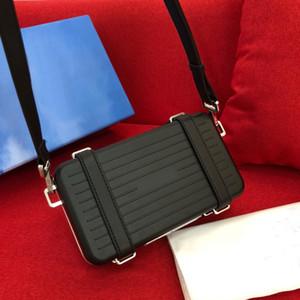 I nuovi uomini di moda e designer donne viaggiano borsa tracolla crossbody telaio lembo valigia di alta qualità di design in lega di alluminio in pelle scanalatura