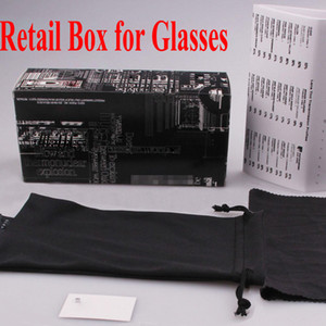 Sunglasses Retail Packages with box,case, cloth, Good quality Factory Price retai packages for brand sunglasses