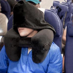 H Shape Inflatable Travel Pillow Folding Lightweight Nap Neck Pillow Car Seat Office Airplane Sleeping Cushion Pillow Multi
