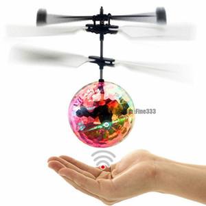 Volant boule LED lumineux Kid vol Balles à distance aéroélectronique induction infrarouge contrôle Magic Toys détection hélicoptère