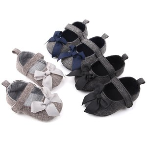 Baby Girls Shoes Bowknot Design Princess Anti-Slip Toddler Soft Soled Casual Walking Shoe Newborn Moccasins