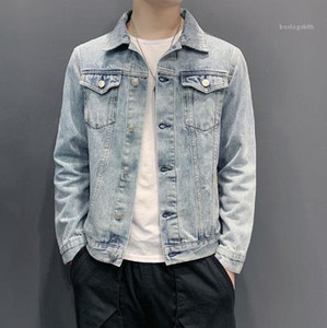 Long Sleeve Casual Coats Fashion Single Breasted Jacket Male Clothing Mens Designer Jeans Outerwear Plus Size