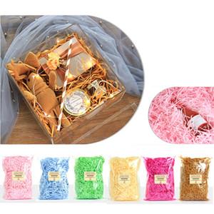 Caja de regalo de color caramelo triturado de papel vino tinto embalaje caja de regalo de relleno de seda de papel triturado XD22679 embalaje de regalo de bodas vacaciones