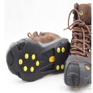 Fashion Non-Slip Shoe Spikes Safe 10 Claws Snow Ice Climbing Shoe Spikes Grips Winter Outdoor Skiing Gripper WY334Q