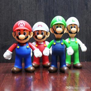 7 Стиль Super Mario Bros игры игрушка мультфильм игры Марио Луиджи Йоши принцесса фигурку подарок для малыша игрушки