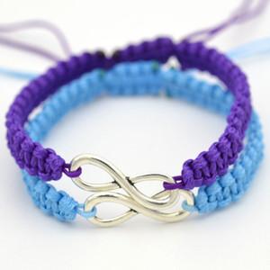 Pareja infinito encanto pulseras tejidas hechas a mano cuerda pulsera de cadena brazalete de joyería de las mujeres de los hombres de moda del regalo Pulseira Femenina