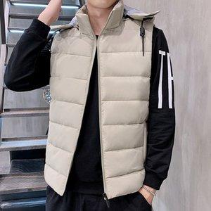 mens designer season fashion teenagers thickened warm down cotton Vest waistcoat