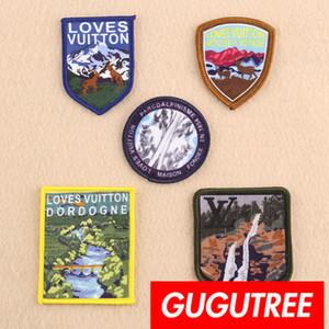 GUGUTREE nakış hayvan yamalar rozeti yama Aplike Yama için Ceket, T-Shirt, şapka, çanta, Kazak, sırt çantası SP-275