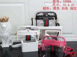 Fashion colorful laser handbags 2020 new printing transparent large-capacity sports handbags short-distance travel bags 15*6*21cm