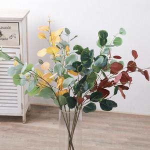Diy Plantes artificielles France Eucalyptus élégant argent feuille de mariage Décoration Simulation usine Salon Faux Décoration