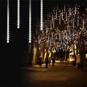 Wasserdichte 30cm 50cm 80cm 10.08 Schlauch Meteor Shower Regen LED-Schnur-Licht im Freien Weihnachtsgirlande für Hochzeit Garten Dekoration