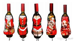 Christmas Apron Wine Bottle Cover Home Decoration Adornos De Navidad Xmas Party Supplies Enfeites De Natal