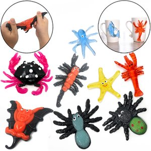 New seabed simulation marine animal TPR soft material vent toy pinch music decompression paste octopus starfish toys
