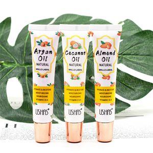 Ushas Olio di Argan trasparente incolore Moist Lip Balm di mandorle olio di cocco autunno e inverno 15ml cura delle labbra