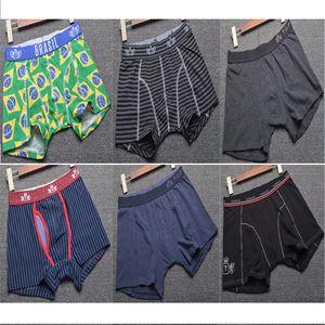 ragazzi 8pcs Brazil Flag righe tronco multipack pugili bambini Stampa mutandine bambino riassunti della biancheria intima degli uomini dei pantaloni di pantaloncini in cotone di alta qualità adolescenti